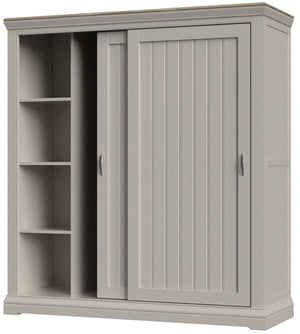 Cobble Painted Double Wardrobe with Sliding Doors