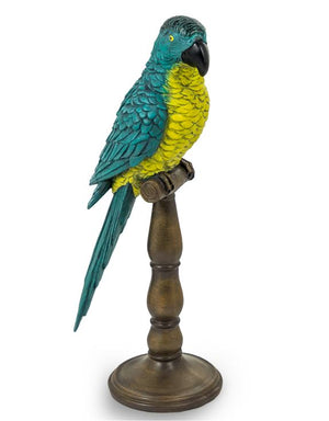 Loft Collection Tropical Parrot on Wooden Pillar
