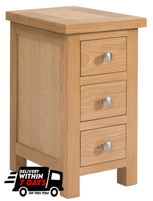 Bicester Oak Compact 3 Drawer Bedside