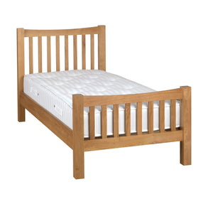 Bicester Oak High Foot End Bed