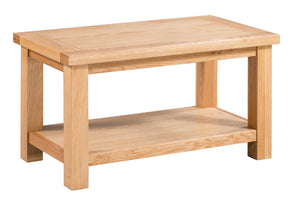 Bicester Oak Small Coffee Table with Shelf | A Touch of Furniture