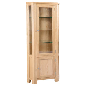 Bicester Oak Glazed Corner Unit | A Touch of Furniture Oxfordshire