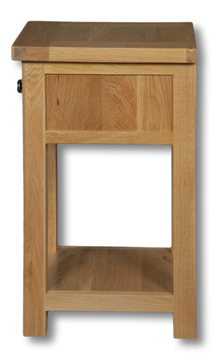 Woodstock Oak 1 Drawer Lamp Table