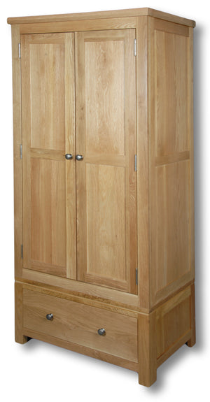 Woodstock Oak 2 Door Single Wardrobe