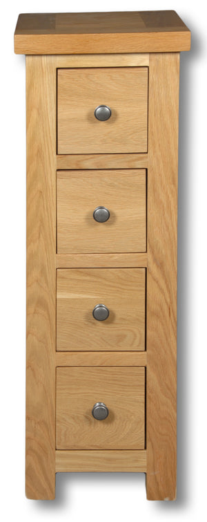 Woodstock Oak 4 Drawer Compact CD Unit