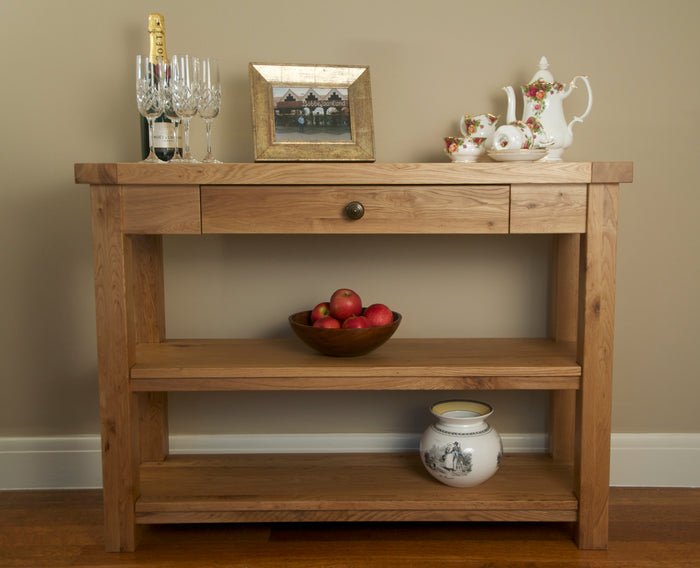Wessex 2 Shelf Console Table