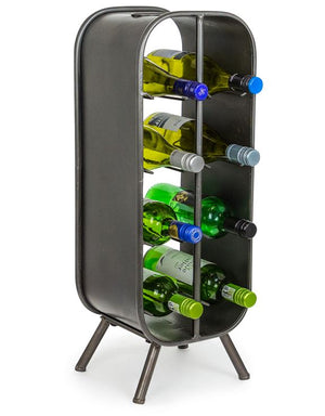 Loft Collection Camden Metal Industrial Small 8 Bottle Wine Rack