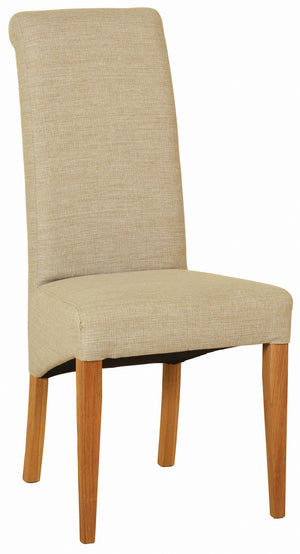 Bicester Oak Beige Fabric Dining Chair
