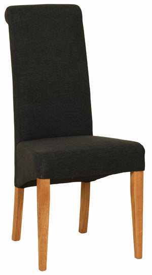 Bicester Oak Charcoal Fabric Dining Chair