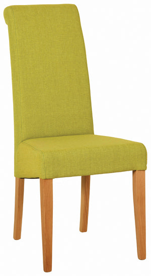 Bicester Oak Lime Fabric Dining Chair | A Touch of Furniture Oxfordshire