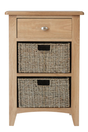 Riva Oak 1 Drawer 2 Basket Unit