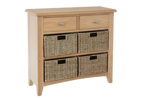 Riva Oak 2 Drawer 4 Basket Unit