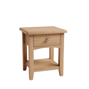 Riva Oak 1 Drawer Lamp Table