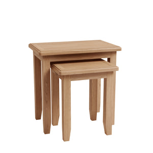 Riva Oak Nest of 2 Tables