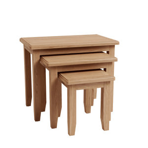 Riva Oak Nest of 3 Tables