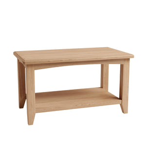 Riva Oak Coffee Table with Shelf