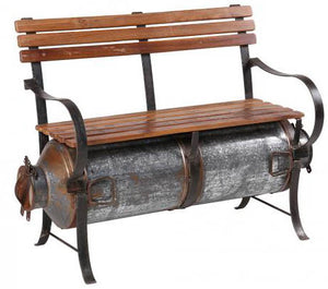 Loft Collection Milk Barrel Bench
