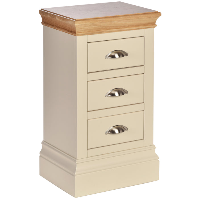 Lundy Pine Painted Compact 3 Drawer Bedside