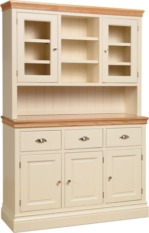 "Lundy Pine Painted 4'6"" Glazed Dresser Top"