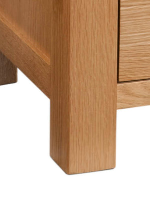 Bicester Oak Single Pedestal Dressing Table with Stool