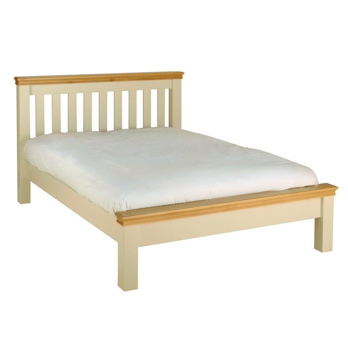 "Lundy Pine Painted 4'6"" Double Bed"