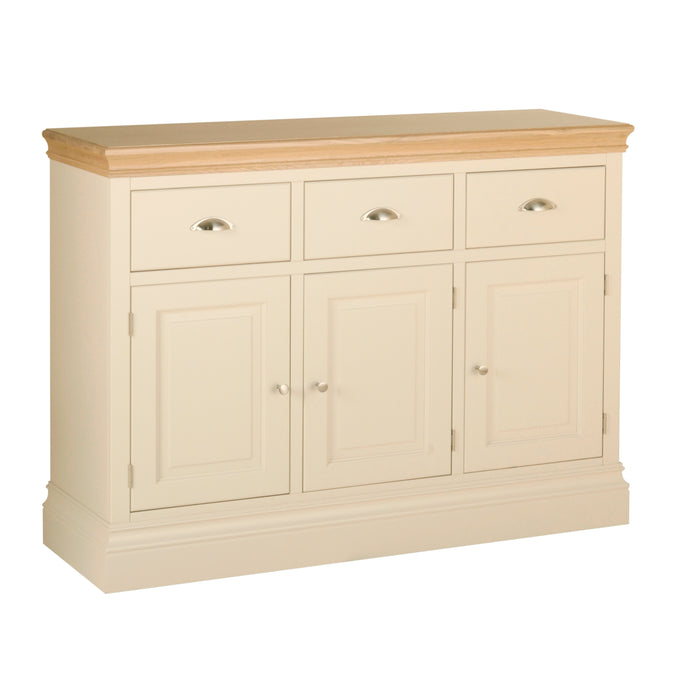 Lundy Pine Painted 3 Drawer Sideboard