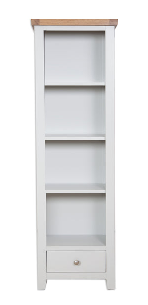 Melbourne Painted Slim Bookcase in French Grey | A Touch of Furniture Oxfordshire
