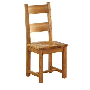 Vancouver Petite Oak Dining Chair with Timber Seat