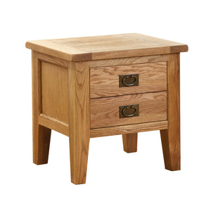 Vancouver Petite Oak Lamp Table With Drawer