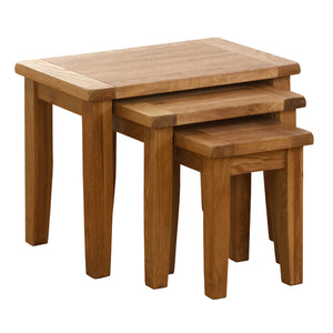 Vancouver Petite Oak Nest of 3 Tables | A Touch of Furniture