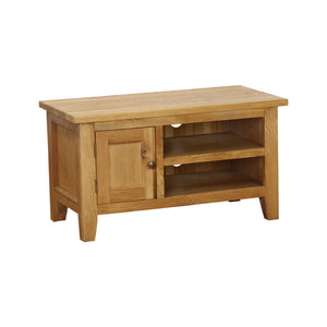 Vancouver Petite Oak Small TV Unit with 1 Door and 1 Shelf | A Touch of Furniture Oxfordshire