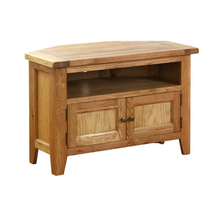 Vancouver Petite Oak Corner TV Unit | A Touch of Furniture Oxfordshire