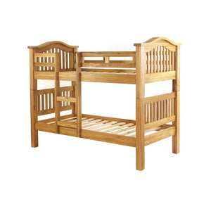 Vancouver Petite Oak 3ft Single Bunk Bed | A Touch of Furniture Oxfordshire