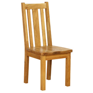 Vancouver Petite Oak Slat Dining Chair with Timber Seat
