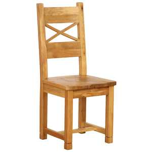 Vancouver Petite Oak Cross Back Dining Chair with Timber Seat