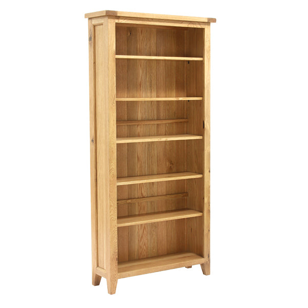 Vancouver Petite Oak Bookcase with 5 Adjustable Shelves