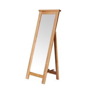 Vancouver Petite Oak Freestanding Mirror | A Touch of Furniture Oxfordshire