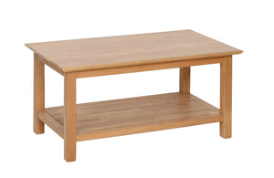 Hearts of Oak Large Coffee Table with Shelf