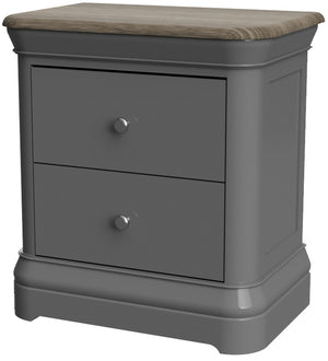 Pebble Painted 2 Drawer Bedside