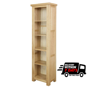 Woodstock Oak Slim Bookcase