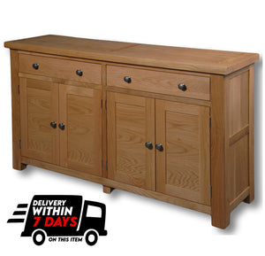 Woodstock Oak 2 Drawer Large Sideboard