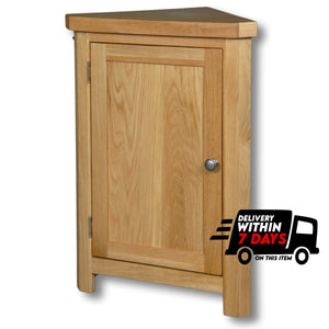 Woodstock Oak Small Corner Cabinet