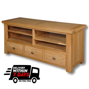 Woodstock Oak 3 Drawer TV Unit