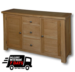 Woodstock Oak Sideboard with 2 Doors and 3 Drawers