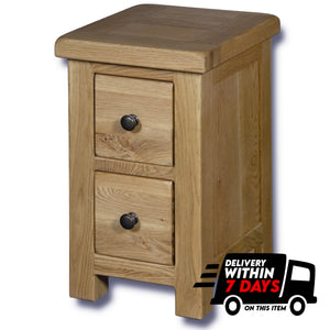 Manhattan Oak 2 Drawer Bedside