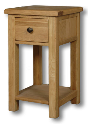 Manhattan Oak 1 Drawer Lamp Table