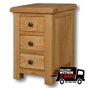 Manhattan Oak Mini 3 Drawer Bedside
