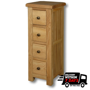 Manhattan Oak Compact CD Unit with 4 Drawers