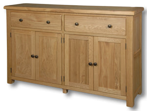 Manhattan Oak 2 Drawer 4 Door Dresser Base