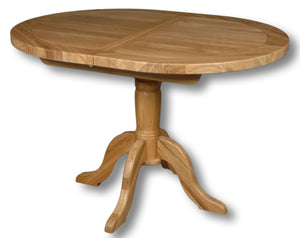 Manhattan Oak 1.2-1.5m Extending Oval Dining Table